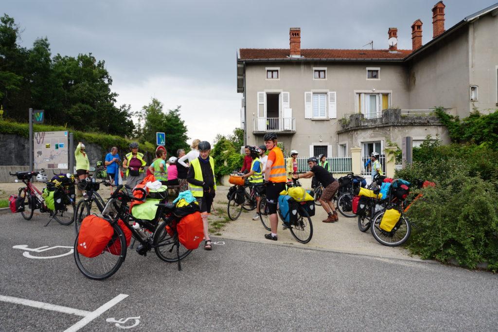Rencontre entre les membres d'Univoyage et de cyclo-camping international
