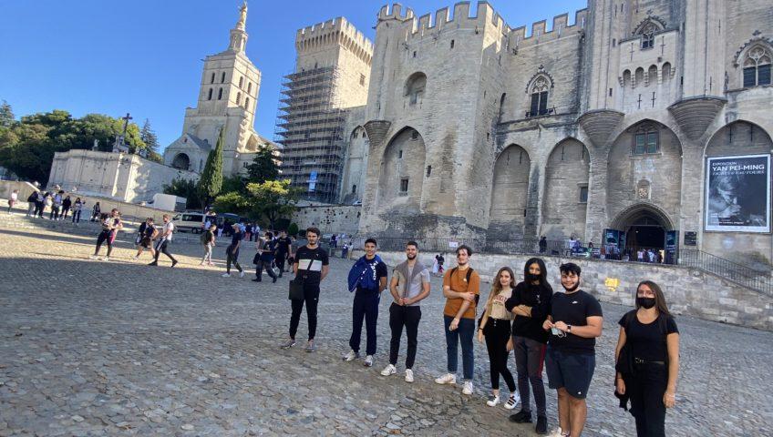 Journée d'intégration dans Avignon