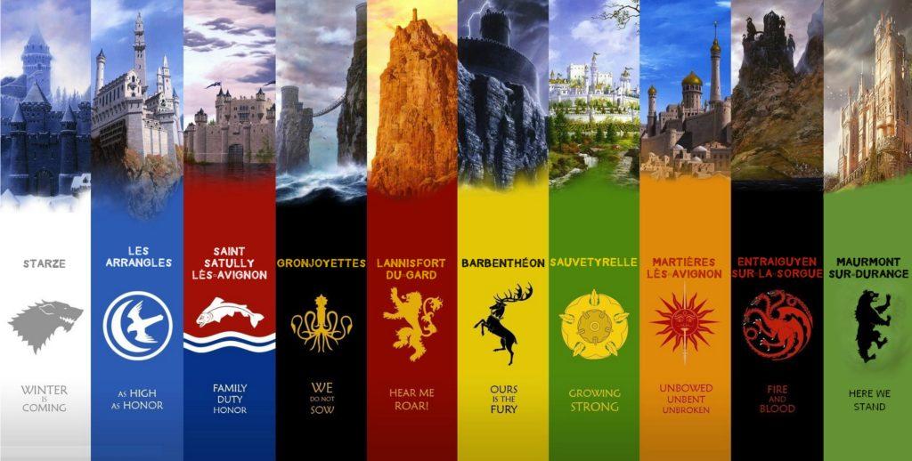 """Bannières inspirées de l'univers """"Game of Thrones"""""""