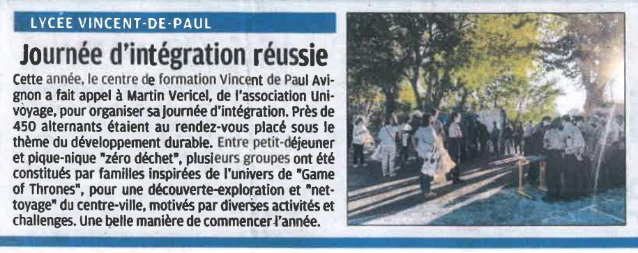 Article du journal La Provence